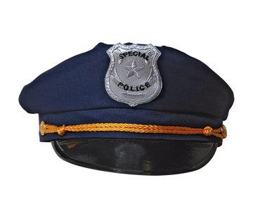 Blauwe politie pet - 20,5cm