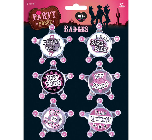 Rozet Party Girls Button