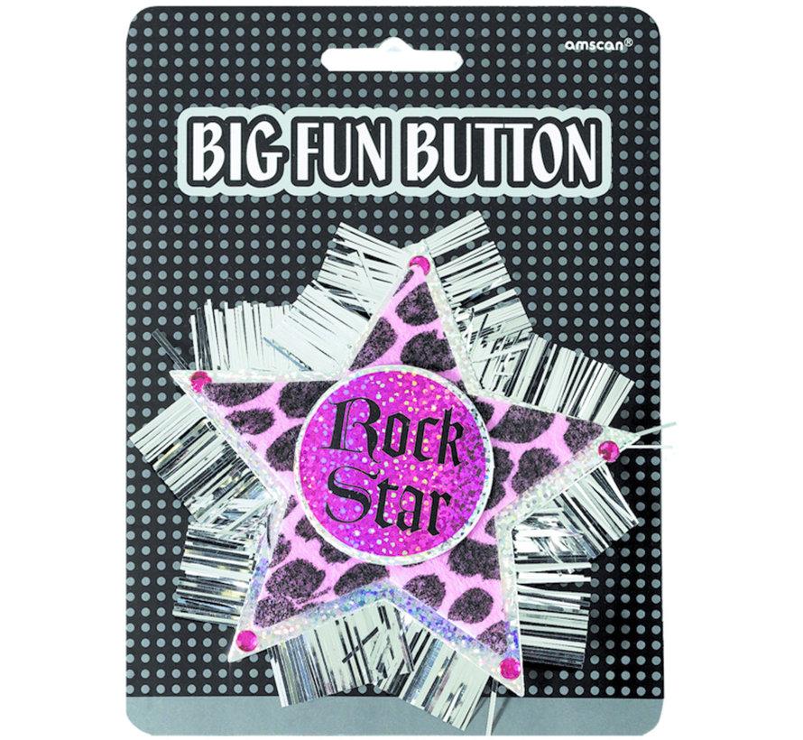 Rozet Rock star Button