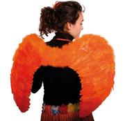 Vleugels met Veren Oranje 80x56cm