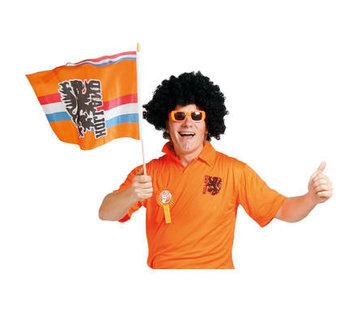 Zwaaivlag Oranje 30x40cm