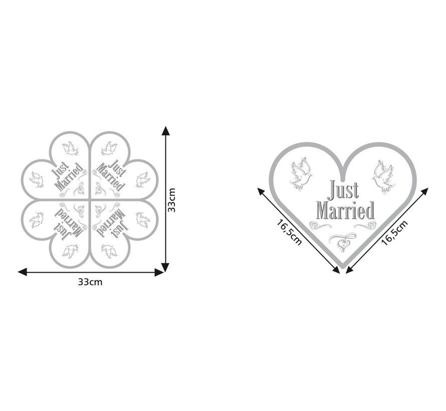 Servetten Bruiloft 'Just Married' 33x33cm - 20 stuks