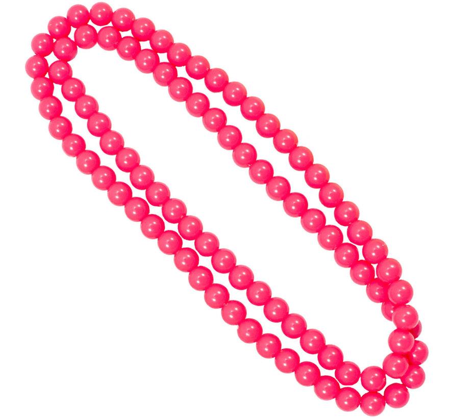 Neon Roze Ketting - 100cm