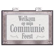 Deurbord Communie Vierkant - Per Stuk