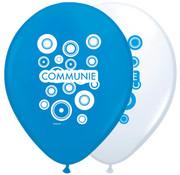 Communie Ballonnen Blauw-Wit 30cm - 8 stuks