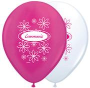 Communie Ballonnen Roze-Wit 30cm - 8 stuks