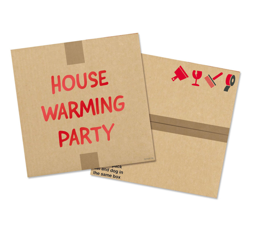 Housewarming Party Servetten 33x33cm - 20 stuks