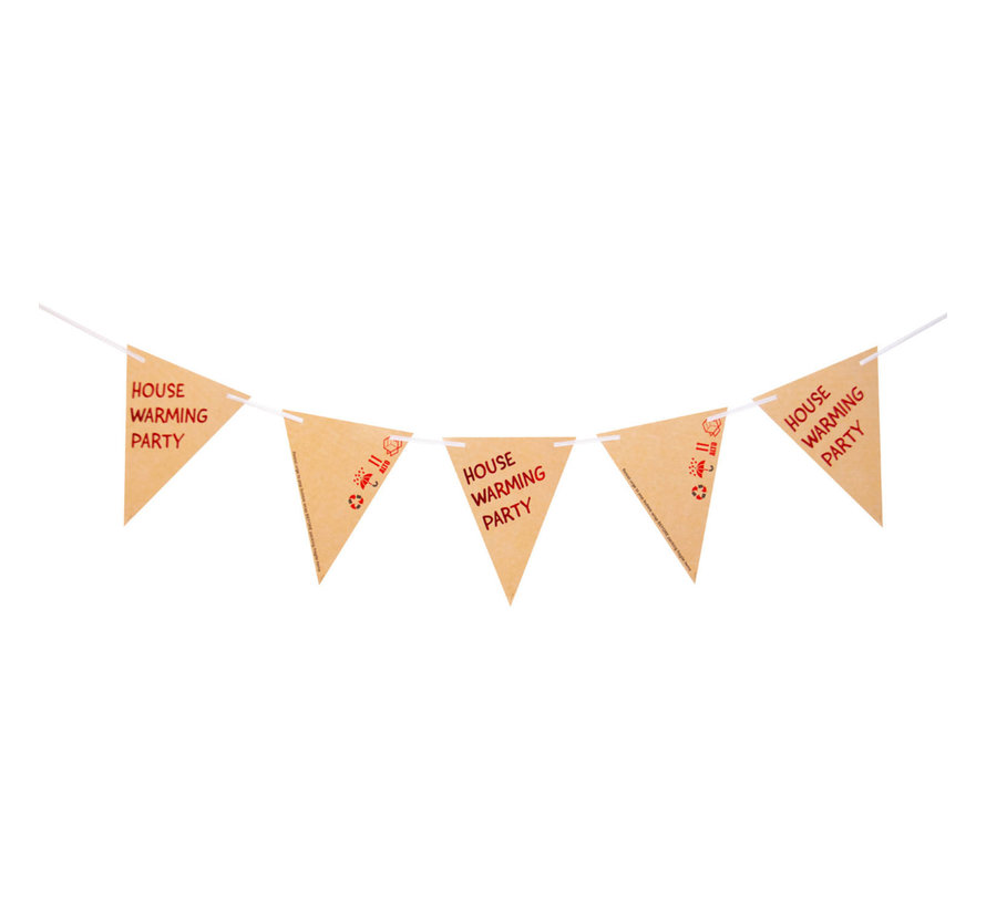 Housewarming Party Vlaggenlijn - 6m