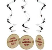 Housewarming Party Hangdecoratie - 3 stuks
