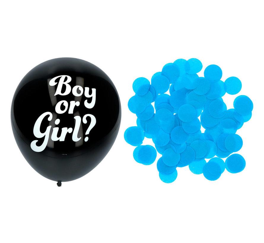 Gender Reveal Ballon Jongen 41cm - 3 stuks
