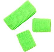 Zweetbandjes Neon Groen - 3 stuks