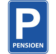Pensioenfeest Parkeerbord Deurbord - per stuk