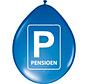 Pensioenfeest Parkeerbord Ballonnen - 8 stuks
