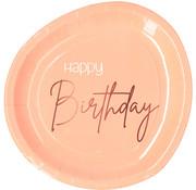 Borden Luxe Roze Happy Birthday 23cm - 8 stuks
