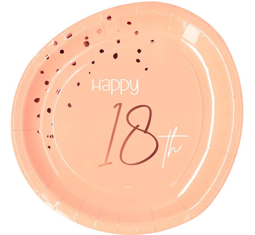 Borden Luxe Roze 18 jaar 23cm - 8 stuks