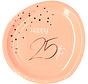 Borden Luxe Roze 25 jaar 23cm - 8 stuks