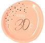 Borden Luxe Roze 30 Jaar 23cm - 8 stuks