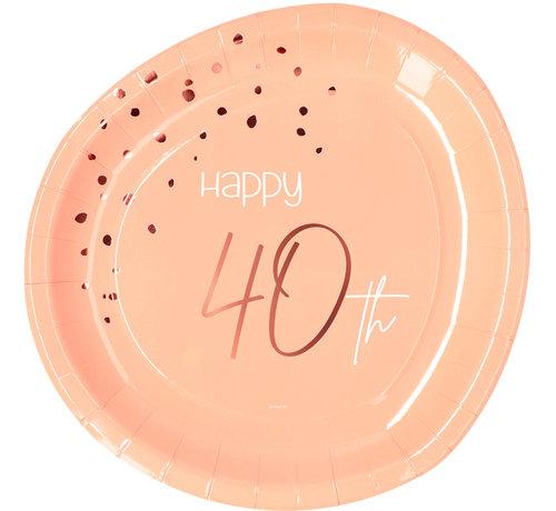 Borden Luxe Roze 40 Jaar 23cm - 8 stuks