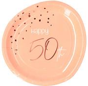 Borden Luxe Roze 50 Jaar 23cm - 8 stuks