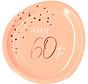 Borden Luxe Roze 60 Jaar 23cm - 8 stuks