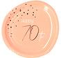 Borden Luxe Roze 70 Jaar 23cm - 8 stuks