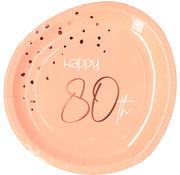 Borden Luxe Roze 80 Jaar 23cm - 8 stuks