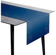 Tafelloper Luxe Blauw - 240x40cm