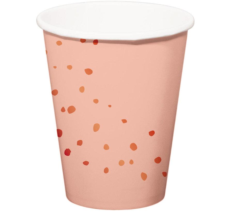 Bekers Luxe Roze 350ml - 8 stuks