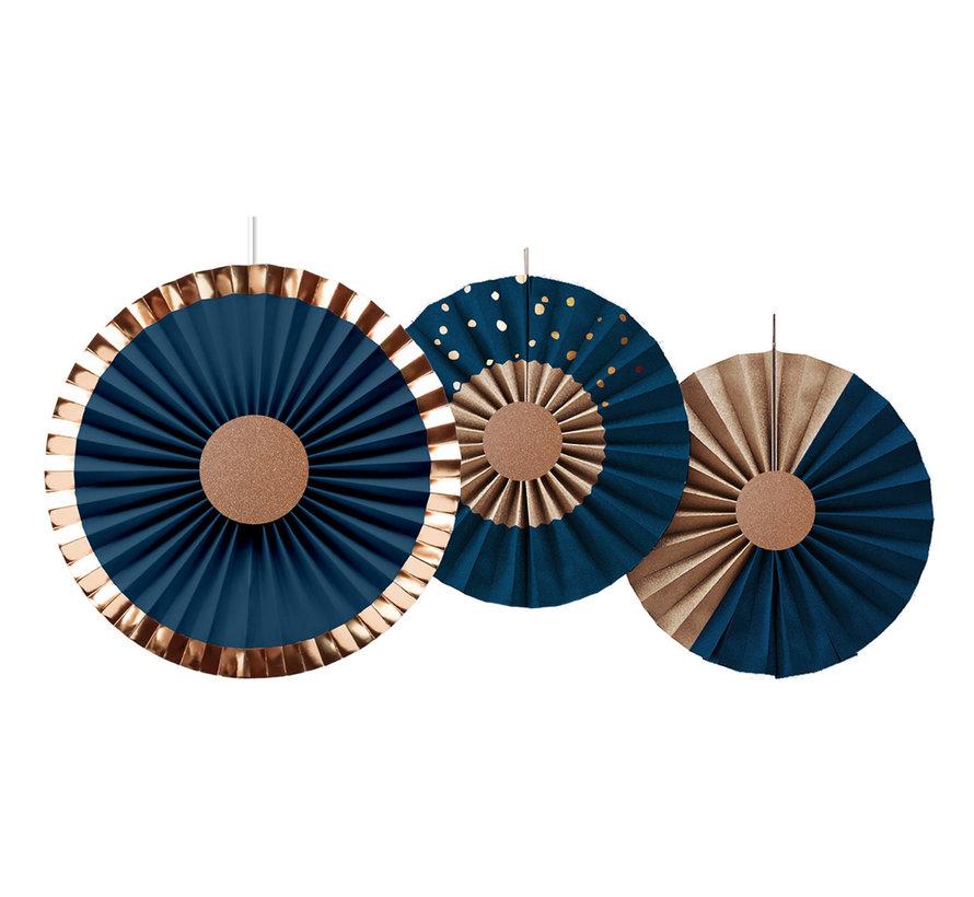 Honeycombs Luxe Blauw - 3 stuks