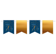 Vlaggenlijn Elegant Blauw 70 jaar - 6 meter