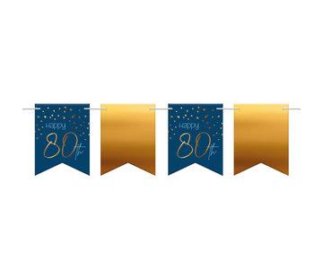 Vlaggenlijn Luxe Blauw 80 jaar - 6 meter