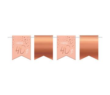 Vlaggenlijn Luxe Roze 40 jaar - 6 meter