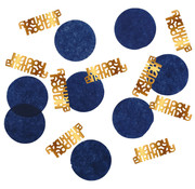 Confetti Elegant Blauw Happy Birthday - 25 gram