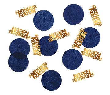 Confetti Luxe Blauw Happy Birthday - 25 gram
