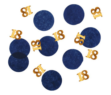 Confetti Luxe Blauw 18 Jaar - 25 gram