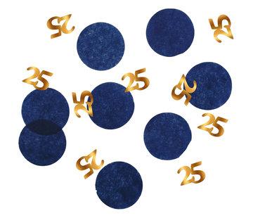 Confetti Luxe Blauw 25 Jaar - 25 gram