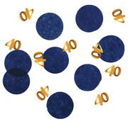 Confetti Elegant Blauw 40 Jaar - 25 gram