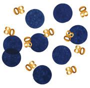 Confetti Elegant Blauw 80 Jaar - 25 gram