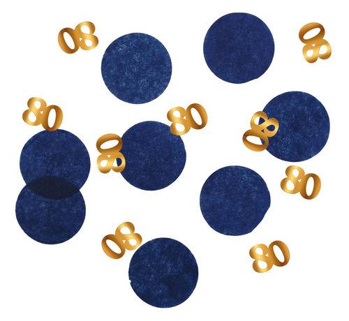 Confetti Luxe Blauw 80 Jaar - 25 gram