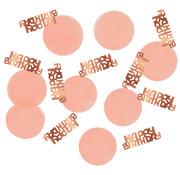 Confetti Elegant Roze Happy Birthday - 25 gram