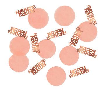 Confetti Luxe Roze Happy Birthday - 25 gram
