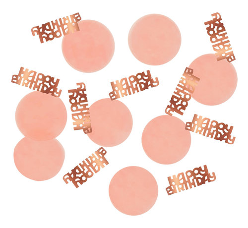 Confetti Luxe Roze Happy Birthday - 25 gram