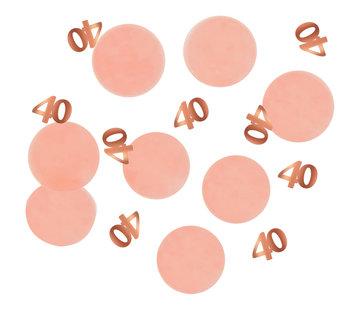 Confetti Luxe Roze 40 Jaar - 25 gram