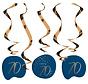 Hangdecoratie Luxe Blauw 70 Jaar - 5 stuks