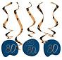 Hangdecoratie Luxe Blauw 80 Jaar - 5 stuks