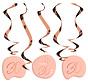 Hangdecoratie Elegant Roze 30 Jaar - 5 stuks