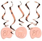 Hangdecoratie Luxe Roze 80 Jaar - 5 stuks