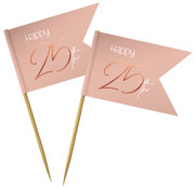 Prikkers Elegant Roze 25 jaar - 36 stuks