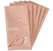 Servetten Elegant Roze 25 Jaar 33x33cm - 10 stuks