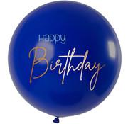 Ballon Elegant Blauw XL - 80cm